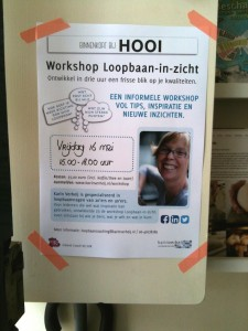 Workshop Loopbaan-in-zicht poster
