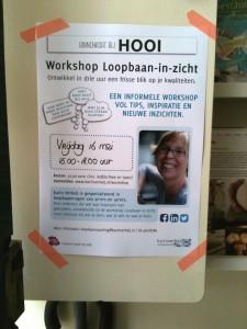 Workshop Loopbaan-in-zicht poster